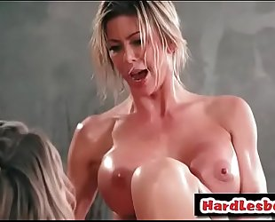 Lesbian with giant titties receives her twat licked - natalia starr and alexis fawx