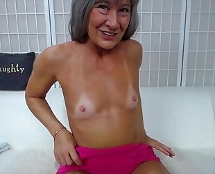 Naughty granny leilani with filthy talk bonks creamy cookie