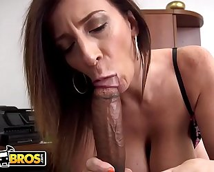 Bangbros - busty milf sara jay sucks a big black penis like the professional that playgirl is