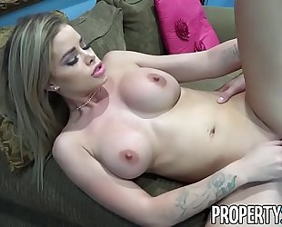 Propertysex - super hawt real estate agent copulates her step-cousin in open abode