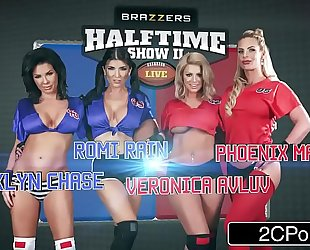The halftime fuckfest - brooklyn follow, phoenix marie, romi rain, veronica avluv