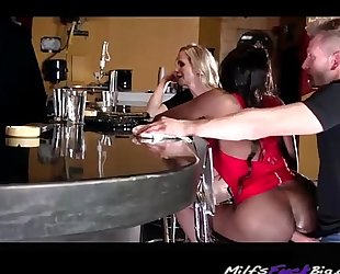 Anal on the bar