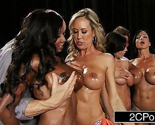 Fitness contest fuckfest - brandi love, diamond jackson, kendra craving, jewels jade