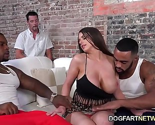 Brooklyn follow copulates 2 black dudes to please her hubby