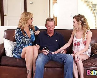 Little nanny angel smalls shares big knob with julia ann