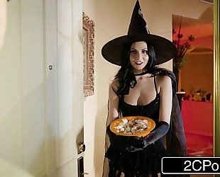 Unfaithful slutwife ariana marie copulates behind husband's back on halloween