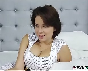 Busty russian marina visconti shows off her love bubbles