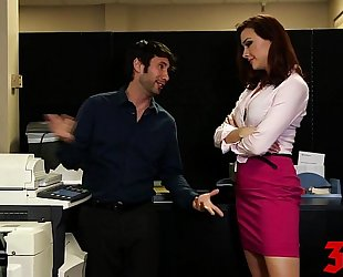 Gorgeous milf screwed in the office