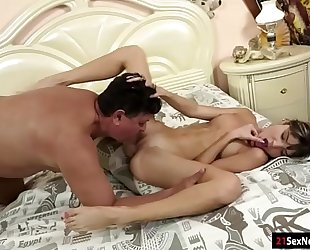 Gina gerson blows licked asslicks and receives screwed by old dude