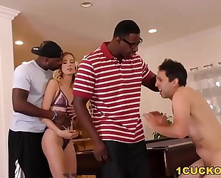 Haley reed interracial three-some - cuckold sessions