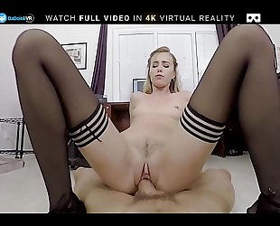 Badoinkvr pov office fuck with sexy golden-haired haley reed