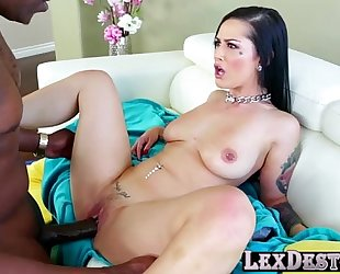 Gorgeous and breasty katrina jade acquires her cookie screwed by lex