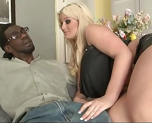 Chubby golden-haired stepdaughter bonding with bbc