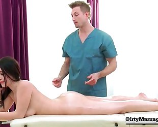 One thick & soaked client with noelle easton from smutty masseur-part02