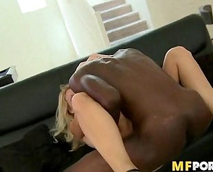 Hard bbc drilling white milf bawdy cleft charlee follow two