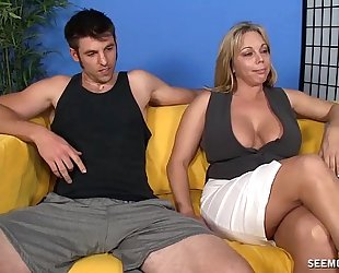 Milf engulfing and tit fuck