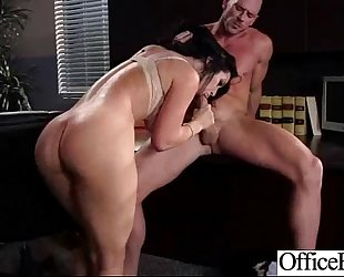 Hot hot BBC slut (jayden jaymes) with large round milk cans receive sex in office mov-16