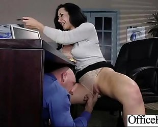 Busty lascivious wife (jayden jaymes) receive hard style group-fucked in office vid-18