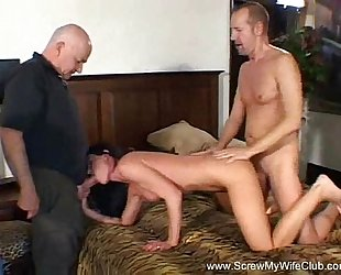 Wild dark brown milf swinger takes on 2