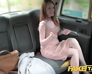 Fake taxi posh redhead with large teats