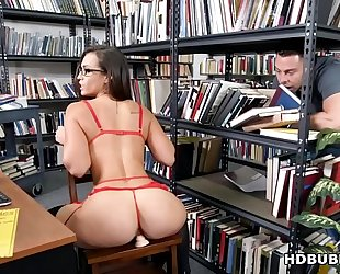Big gazoo librarian kelsi monroe got drilled into wazoo after closing