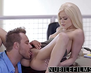 Elsa jean gives boss impure irrumation & swallows