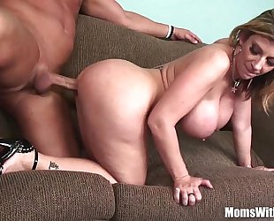 Milf golden-haired sarah jay soft giant breasts drilled