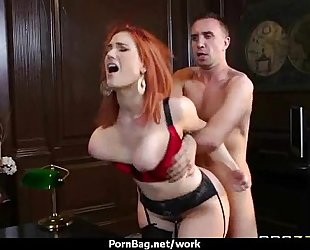 Submissive office breasty assistant lastly bonks her boss 28