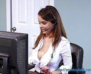 Big bra buddies at work - compilation - amia miley, dillion harper, and greater quantity...
