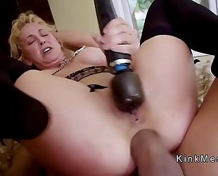Milf acquires anal fist and muff fuck