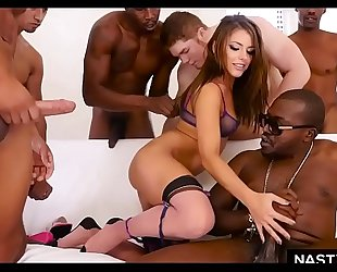 Interracial double anal team fuck with adriana chechik