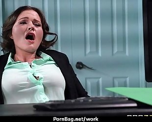 Sexy wild milf likes coarse sex at work 7