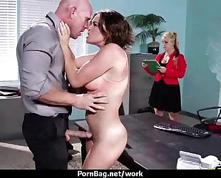 Office assistant getting drilled hard three