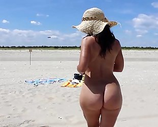 Hot mommy milf at the beach